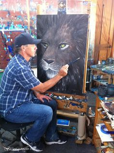 Artist:Wyland  He is primarily a marine life artist, but all wildlife interests him.  He is at heart, a conservationist of the highest order.