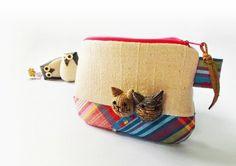 Coin purse / Cat zipper pouch / Cat coin purse / by DooDesign, $16.90