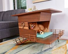 Wooden Contemporary Dog Houses - Pijuan Design Workshop