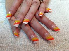 Candy corn nails