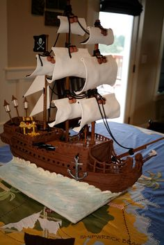 Black Pearl pirate ship birthday cake | ArtisanCakeCompany | Flickr