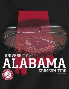 Alabama Crimson Tide T-shirt design from Crimsondeals.com #Alabama #RollTide…