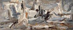 BOUQUETON, MARCEL (1921) «M'Raïer Blanche», 1960. Huile sur toile signée en Nouvelle Ecole de Paris