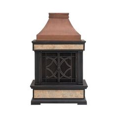 Sunjoy Copper Steel Outdoor Wood-Burning Fireplace at Lowe's. There's nothing quite like an evening outside around a fire. Make every night at home feel special with this outdoor wood-burning fireplace from Outdoor Wood Burning Fireplace, Wood Burning Fire Pit, Fireplace Tools, Wood Fireplace, Outdoor Fireplaces, Patio Gazebo, Pergola Canopy, Metal Pergola, Diy Gazebo