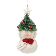Department 56 Snow Pinions All Spruced Up Ornament, 4.75-Inch