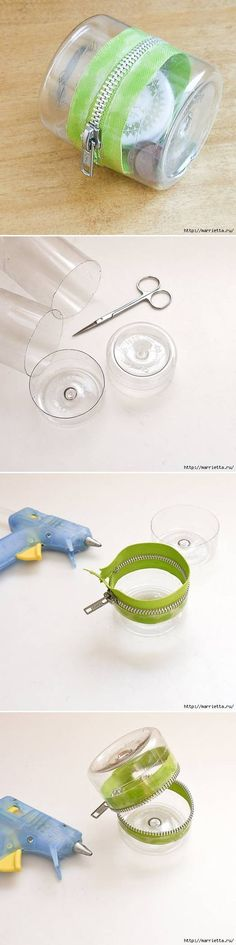 Recycle DIY Simple Plastic Bottle Storage Box