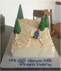 Snowboarding cake. It's all down hill from here!