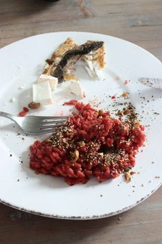 beetroot risotto with cinnamon -ducca & fresh goat cheese