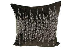 Shore 20x20 Velvet Pillow, Chocolate on OneKingsLane.com