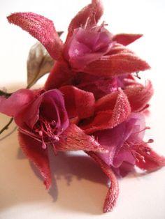 vintage velvet millinery bouquet