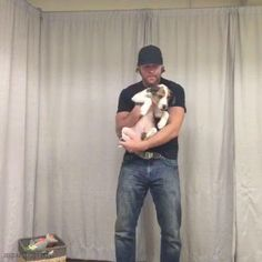 Dean is holding a puppy....Your argument is invalid.