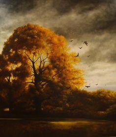 That Old Oak Tree, oil on panel    Andrew Crocker
