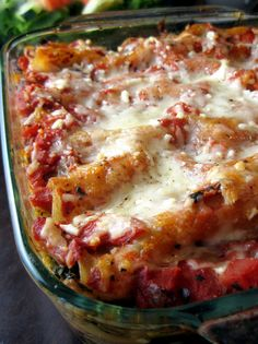 Sausage, Mushroom, Spinach, and Caramelized Onion Lasagna
