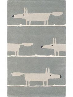 Tapis en laine Mr Fox Gris 140x200 cm