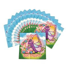 Butterfly 1st Birthday Luncheon Napkins - OrientalTrading.com $2.25/16