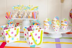 Treats at a Polka Dot Party #polkadot #party