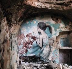 "by Julien ""Seth"" Malland - Les Nouveaux Explorateurs Abandoned district of Ariano Irpino, Italy - 2015 The artist: ""30 years ago an earthquake destroyed a part of Ariano Irpino. Some abandoned houses are still waiting for resurrection""."