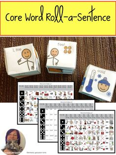AAC core word activity for speech therapy helps students sequence novel utterances to build phrases and sentences in an engaging dice activity. Speech Language Pathology, Speech And Language, Resource Room Teacher, Communication Development, Phrases And Sentences, Self Contained Classroom, Special Needs Students, Vocabulary Activities, Special Education Classroom