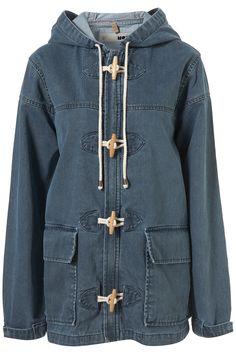 Topshop denim duffle coat