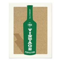 Shop Vintage Birthday Wine Party Invitation created by birthdayblast. 50th Birthday Party Invitations, 90th Birthday Parties, Wine Birthday, Vintage Invitations, Personalized Invitations, Zazzle Invitations, Invitation Cards, Wine Parties, Vintage Wine
