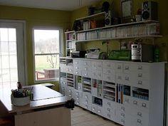 #papercraft #craft supply #organization. Cube Storage