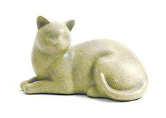 AmazonSmile : Near & Dear Pet Memorials Cozy Cat Resin Cremation Urn, 25 Cubic Inch, Fawn : Pet Memorial Products : Pet Supplies