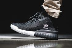 "adidas Tubular X Primeknit ""Black"" Addidas Shoes Mens, Adidas Sneakers, Adidas Concord, Hypebeast, Greaser Style, Minimal Shoes, Adidas Trefoil Hoodie, Hype Shoes, Dance Fashion"