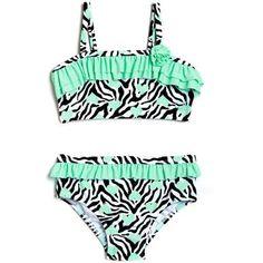This the swimsuit I got Kimberly <3  Op Newborn Baby Girl Heart Skinz Zebra Bikini Swimsuit