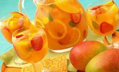 Sparkling Mango Strawberry Sangria (Non-alcoholic) Recipe - Relish