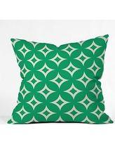 Holli Zollinger Emerald Diamonds Throw Pillow, 16 by 16-Inch