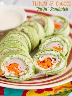 Pack Some Fun In Your Childs Lunch With These Turkey And Cheese Sushi Sandwich Rolls Box RecipesSandwich