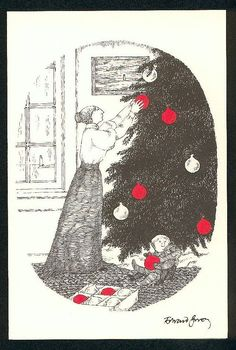 I am sure you are familiar with the weird, whimsical Victorian- and Edwardian-inspired artwork of Edward Gorey. His illustrations were of. Edward Gorey, Up Book, Book Art, John Kenn, Ink Pen Drawings, Gothic Art, Macabre, Christmas Cards, Xmas