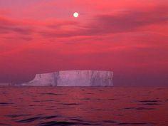 red sky, Antarctica