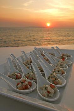 True North Cuisine Canapes Sunset