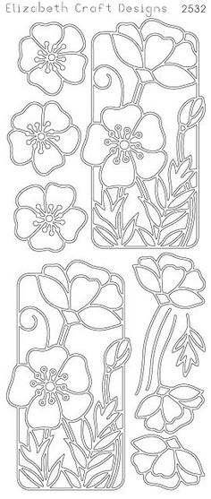 Elizabeth Craft Designs PeelOff Sticker 2532B Flower by PNWCrafts