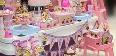 Decoração de Festa Minions Rosa Birthday Party Decoration Ideas