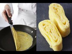 Technique de cuisine : réaliser une omelette à la japonaise - YouTube