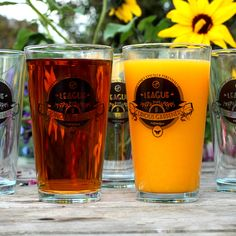 For those of you who dare to break the chains of normality & concoct your own home brew, we have the perfect receptacle for your choicest libation - be it from root, stem, or flower - the League of Curious Gardeners' very own sanctioned pint glass set!