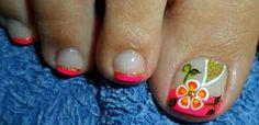 Pedicure Designs, Toe Nail Designs, Toe Nail Art, Toe Nails, Kylie Lipstick, French Pedicure, Beauty, Red Toenails, Designed Nails