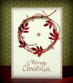 scrapperia: Merry Christmas twine wreath