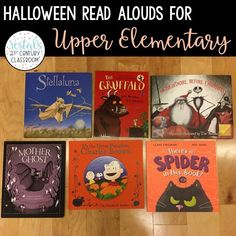 Using Halloween read alouds with upper elementary students is a great way to celebrate the holiday while covering important standards.  #vestals21stcenturyclassroom #halloween #halloweenbooks #halloweenreadalouds #halloweenactivities