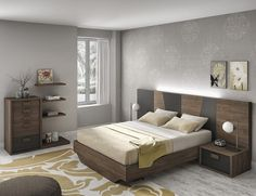 Dormitorio moderno (168 – D9) - Muebles CASANOVA Room Design Bedroom, Bedroom Furniture Design, Modern Bedroom Design, Bed Furniture, Bedroom Decor, Modern Furniture, Bed Back Design, Bed Design, Residential Interior Design