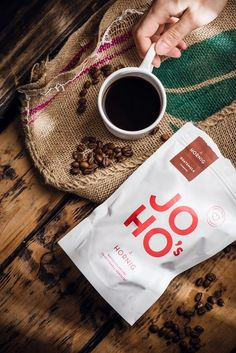 JOHO's Direct Trade Coffee on Packaging of the World - Creative Package Design Gallery Coffee Shot, Coffee Love, Espresso Coffee, Coffee Coffee, Coffee Maker, Coffee Packaging, Coffee Branding, Chocolate Packaging, Bottle Packaging
