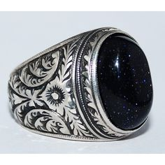 Sterling Silver 925 mens rings , natural star gemstone.