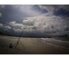 Brandungsangeln auf Hai in Holland. Hai, Am Meer, Wind Turbine, Holland, Solar, Beach, Water, Outdoor, Sea Bass