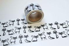 Weihnachtsmaterial - Tape TIERE Katzen Kätzchen Kätzin Mieze - ein Designerstück von bespokedesign bei DaWanda