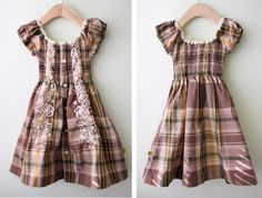 Little girls dress made from a men's button up shirt. I want one for me!!!