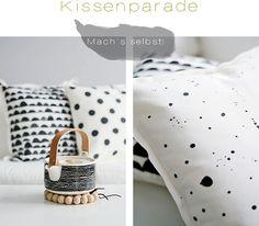 Super Ideen für selbstgemachte schwarz weiße Kissen