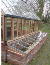 dwarf wall coldframes attached to greenhouse - Google Search