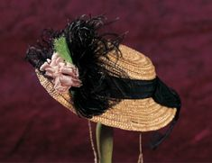 Lady Dolls of the 19th Century: 34 Milliner Straw Bonnet for Poupee